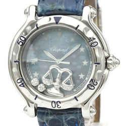 Polished CHOPARD Happy Sport Aquarius Diamond MOP Dial Watch 27/8438 BF530481