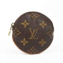 Louis Vuitton Round Coin Purse Brown Monogram Coated Canvas