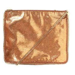 Stella Mccartney - Bag Falabella Bronze Medium Messenger Crossbody Chain Around