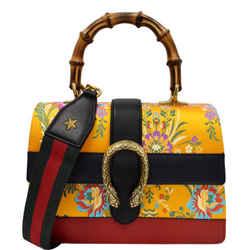 GUCCI  Dionysus Medium Top Handle Floral Jacquard Shoulder Bag Gold 448075