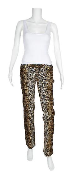 D&g Stretch Leopard Print Jeans