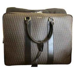 Saint Laurent Ysl Squared Luggage Toile Monogram Rodeo Negro 343690