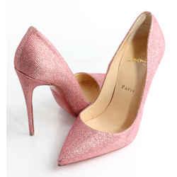 Christian Louboutin Glitter Tisse So Kate 120 Pumps - Pink