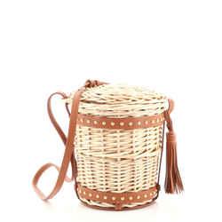 Celine Panier Bucket Bag Wicker Mini