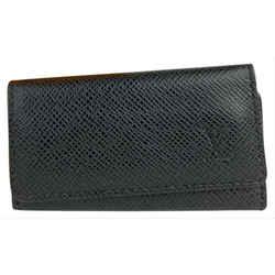 Louis Vuitton Black Taiga Leather 4 Key Multicles Holder 16L859