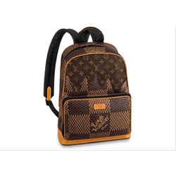 Louis Vuitton      Damier Ebene Geant Nigo Campus Backpack Rare Runway Drip Melt 860730
