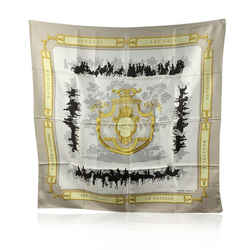 Hermes Paris Vintage Silk Scarf Le Bois De Boulogne 1957 Hugo Grygkar