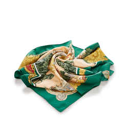 Brown Hermes Sanssoucy Silk Scarf