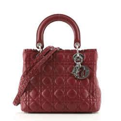 Lady Dior Bag Ruffle Cannage Quilt Lambskin Medium