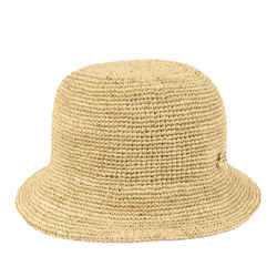 Brown Gucci GG Raffia Hat