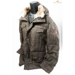 Moncler Men's Down Jacket W/ Hoodie And Removable Fur Collar