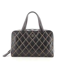 Surpique Zip Around Satchel Quilted Leather Large