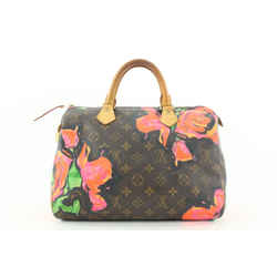 Louis Vuitton Stephen Sprouse Graffiti Roses Speedy 30 Bag Flower 421lvs528