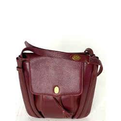Cartier Bordeaux Leather Crossbody Messenger 27cart68