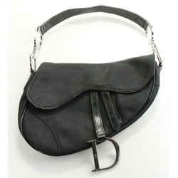 Dior Vintage Nylon Saddle Bag - Black