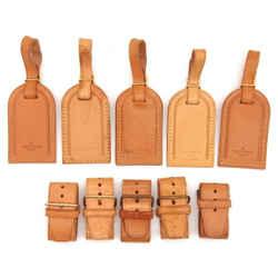 LOUIS VUITTON Leather Luggage Name ID Tag 5P Set-125