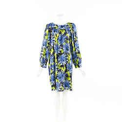Michael Kors Dress Maritime Multicolor Floral Silk Shift SZ 12