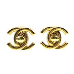 Chanel Gold CC Interlock Clip On Earrings