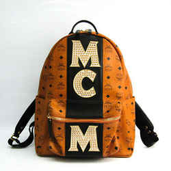 MCM Stark With Studs MMK8SVE82CO001 Unisex Leather,PVC Backpack Black,B BF525564