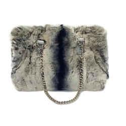 Fur Satchel With Chain Handles By Carlos Falchi