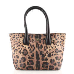 Miss Escape Open Tote Printed Coated Canvas Small