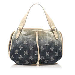 Blue Celine Macadam Bittersweet Denim Handbag Bag