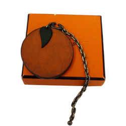 Hermes Chevre Mysore Key Chain Bag Charm Orange