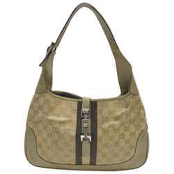 Gucci Khaki Gold Beige Jackie-O Bardot Hobo Bag 863196