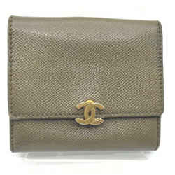 Chanel Khaki Olive Leather CC Flap Compact Wallet 861752