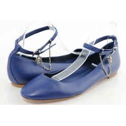 Alexander McQueen Ballerinas Ankle Strap Nappa Leather Blue