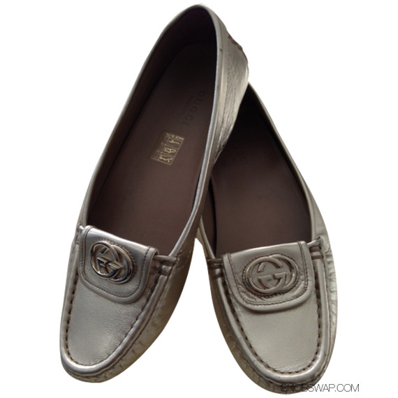 Gucci Platino Driving Loafers