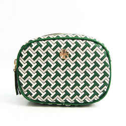 Tory Burch T ZAG COSMETIC POUCH 64205 Women's Leather,Coated Canvas Pou BF530029