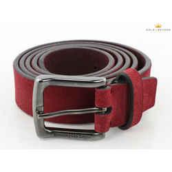 Ermenegildo Zegna Red Suede Belt Size 42