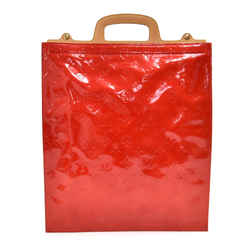 Louis Vuitton Stanton Red Vernis Leather Tote Handbag