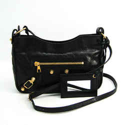 Balenciaga Giant Hip 237203 Women's Leather Shoulder Bag Black BF516747