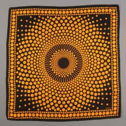 Missoni Black & Orange Silk Spotted Print Scarf