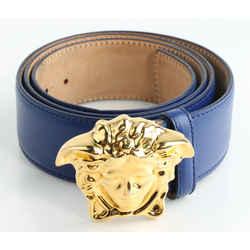 Versace Leather Medusa-Buckle Belt