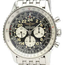 Polished BREITLING Navitimer Cosmonaute Hand-Winding Mens Watch A12022 BF523903