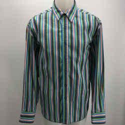 Robert Graham Blue/multi Striped Button Up Shirt Size Xl