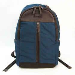 Coach Valic F70664 Men's Leather,Nylon Backpack Dark Brown,Navy BF528070