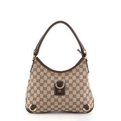 Abbey D-Ring Hobo GG Canvas Medium