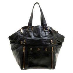 Saint Laurent Paris Black Patent Leather Medium Downtown Tote