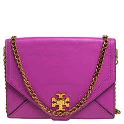 Tory Burch Fuchsia Leather Kira Envelope Flap Chain Bag