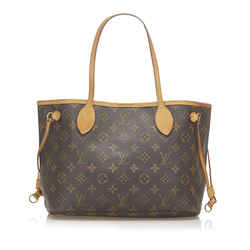 Brown Louis Vuitton Monogram Neverfull PM Bag