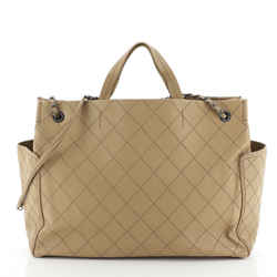 CC Pocket Tote Quilted Calfskin Large