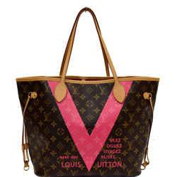 LOUIS VUITTON  Neverfull MM V Grenade Monogram Canvas Shoulder Bag Brown