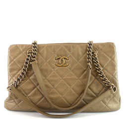 Cc Crown Quilted Leather Medium Bag